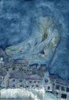 """i used to have a version of under milk wood read by dylan thomas himself, but dont have it any more - unfortunately cant find it in the shops either. :( """"The Dreamers"""" By Merle Hunt. Illustrating Dylan Thomas' Under Milk Wood."""
