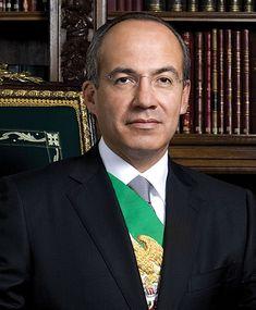 Felipe Calderón Hinojosa, Presidente de México (2006-2012). Segundo presidente consecutivo del PAN.