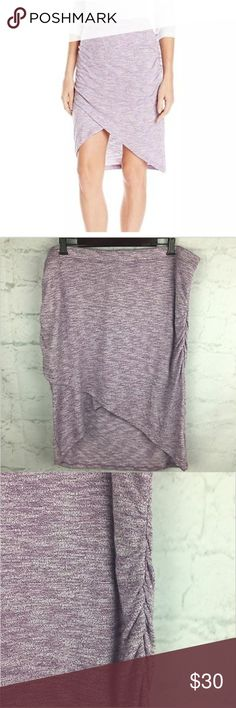 Soybu Purple Wren Yoga Skirt 2X NWT SOYBU wren skirt in silver plum. Size 2X. Brand new with tags  The hottest skirt of the season, the wren skirt has a scalloped design and is made of our soft Marled jersey. This slight sheath style is flattering for any body type and can be dressed up or down depending on where the day takes you.  - Breathable, lightweight  - Wrinkle resistant, stretch  - Marled jersey makes this slim fitting skirt extra comfortable  - Hemline hits just below the knee…