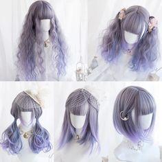 Anime Wigs, Anime Hair, Cosplay Hair, Cosplay Wigs, Kawaii Hairstyles, Cute Hairstyles, Cosplay Kawaii, Kawaii Wigs, Lolita Hair