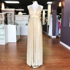 03410e550933 Gold Hour Ivory/Gold Formal Dress From Cousin Couture. Gold Formal Dress