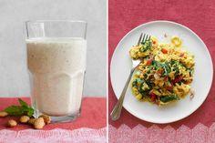 Almond-milk date shakes & Bombay scrambled eggs
