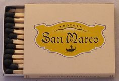 Enoteca San Marco #matchbox - Las Vegas - - To Order Your Business' own branded #Matchbooks and #Matchboxes call 800.605.7331 or GoTo: www.GetMatches.com. Today!