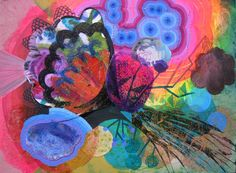 Mute Medusa acrylic abstract painting organic by PippiLeePresents