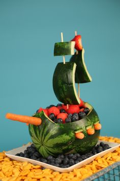 Fruit Salad Pirate Ship - COOKING