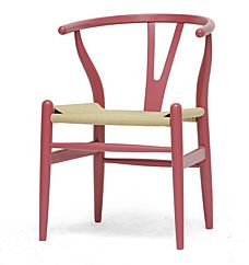 Hot Chi...air in the City! Wowzers. This combines two things we love. First, the Wishbone chair, possibly our favorite, and the color pink! So get four of them and find yourself a gorgeous vintage Asian painted table and invite the gals over. They'll be pink with envy! Mid Century Modern Pink Wishbone Chair, Overstock.com, $139.49 each