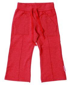 Baba Babywear mega hippe zacht rode stretch broek met zakken. baba-babywear.nl.emilea.be