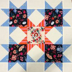 Sewing Inspiration for Wonderland by Rifle Paper Co. Big Block Quilts, Star Quilts, Quilt Blocks, Star Blocks, Rifle Paper Fabric, Rifle Paper Co, Sewing Crafts, Sewing Projects, Sewing Ideas