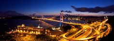 Tsing Ma Bridge.The Chinese architects designed and build an incredible modern, hi-tech bridge. Tsing Ma Bridge connects two of Hong-Kong's islands and is an important section in the road network, running from Lantau to the international airport.