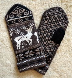 Norwegia Wool Mittens from Etsy page