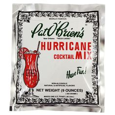 What's a Crawfish boil without a lil  Pat O'Brien's cocktail mixer?