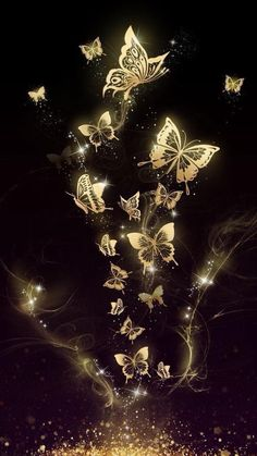 It… Beautiful golden butterfly live wallpaper! It is originally designed by Ahatheme! Hd Wallpaper Android, Cute Wallpaper Backgrounds, Pretty Wallpapers, Cellphone Wallpaper, Colorful Wallpaper, Galaxy Wallpaper, Desktop Wallpapers, Golden Wallpaper, Wallpaper Art