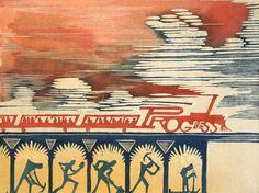Charlie Spitzack. Progress, Train Series No. 1. 2010. Woodcut. 3/20.