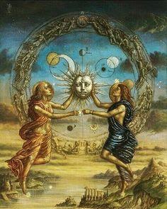 Esoteric Art, Alchemist, Sacred Geometry, Occult, Deities, Magick, Wicca, Gemini, Mystic