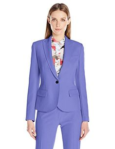 Anne Klein Womens Peak Lapel Jacket Chicory 10 ** Visit the image link more details.
