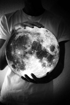 The moon understand what it means to be human. Uncertain. Alone. Cratered by imperfections