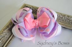 Hair clip  Boutique hair bow hair clip by SydneysBows on Etsy, $4.99