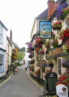 Yes, roads really are narrow in Cornwall! - Cornwall, UK.