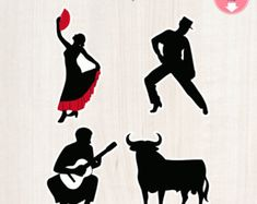 Fiesta Inprimible de Flamenco Themed Paquete por IconicaDesign