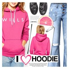 """I Love Hoodie"" by metisu-fashion ❤ liked on Polyvore featuring Vivienne Westwood, polyvoreeditorial, polyvoreset and metisu"