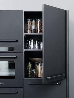 #black #kitchen #storage