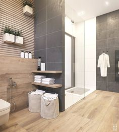Modern bathroom design 226165212521288179 - An Organic Modern Home With Subtle Industrial Undertones Source by Grey Bathroom Tiles, Bathroom Interior, Bathroom Decor, Interior, Bathrooms Remodel, Luxury Bathroom, Grey Bathrooms, Dark Gray Bathroom, House Interior