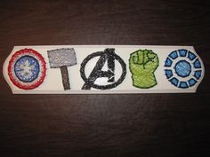 Avengers String Art by ArtsyElliephant on Etsy