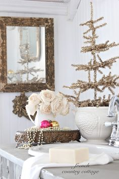 french country cottage a little christmas french country christmas cottage christmas french country - French Country Christmas Decorating Ideas