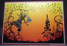 Fleur Silhouette De achtergrond is het design papier van Lavinia Stamps