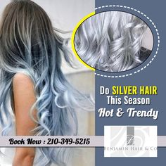 #SilverHair is the new hot trend currently. It's a new hype that silver is the new blonde and it's seen hitting the high streets. Get your best #SilverHairColorSanAntonio.  #BenjaminHairCo