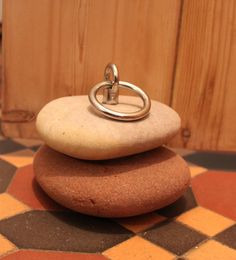 Doorstop with stainless steel ring