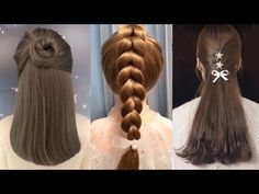 10 easy hairstyles for long hair/peinados para niñas/ peinados Hairstyles Over 50, Shag Hairstyles, Easy Hairstyles For Long Hair, Curly Hair Styles, Natural Hair Styles, Red Curls, Loose Updo, Braid Styles, Fine Hair