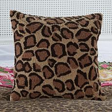 Clever Carriage Home St. Tropez Leopard Hooked Pillow