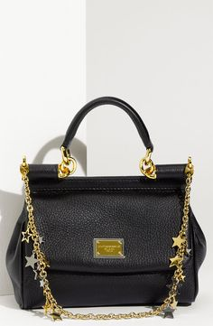Dolce 'Miss Sicily - Mini' Satchel with Star Chain Strap