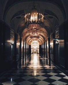 A glimpse down Waldorf Astoria New York's Silver Corridor which leads to the Grand Ballroom on the right. Photo by @monshanks via IG.