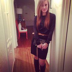 @theblondetheory: Black on black on black ... Emma looking sexy.