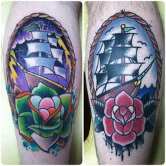 """""""2 of my favorite tattoos that I have. Left was done by my dude Jordon Berry at Time Bomb Ink in Findlay, Ohio. Right was done by my other buddy Brenton Potter at The Tattoo Factory in Bucyrus, Ohio."""""""