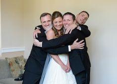 bride & groomsmen, so cute! Wedding at Arlington Heights United Methodist and The Fort Worth Club