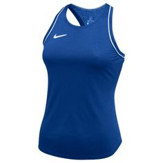 Shop for Nike Women`s Team Court Dry Tanks at Tennis Express! Made with lightweight polyester fabric, Dri-Fit technology, and a racerback design, this tank is sure to set your team up for long lasting comfort. Tennis Tops, Team Gear, Range Of Motion, Outfit Of The Day, Athletic Tank Tops, Nike Women, Outfits, Shopping, Fashion