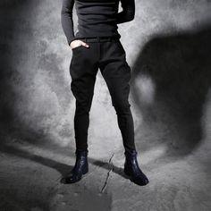 Nowy Jesień zima zagęszczony osobowości Szczupły mężczyzna pants stylistka Nocny odcinek Harlan spodnie Męskie spodnie bryczesy w Nowy Jesień zima zagęszczony osobowości Szczupły mężczyzna pants stylistka Nocny odcinek Harlan spodnie Męskie spodnie bryczesy od Harem Pants na Aliexpress.com   Grupa Alibaba