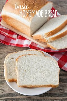 EASY Homemade Bread - the best, most fluffy loaf of homemade white bread! Tastes so much better than store bought!!