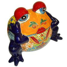 Talavera Frog Planter  for the flowerbed