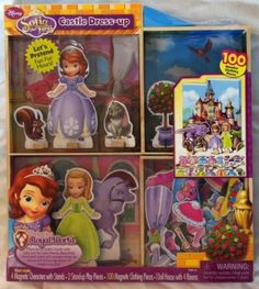 Sofia the First Magnetic Dress-up and Playhouse Castle, 100 Wooden Pieces ** See this great product.