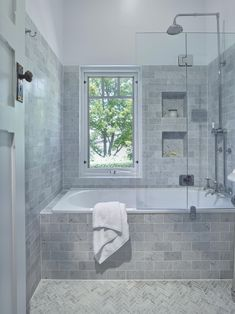 Traditional Bathroom - lovely inset bath with a shower combo, handy niche to kee. Traditional Bathroom - lovely inset bath with a shower combo, handy niche to keep all your bath/ shower items close . Bathtub Shower Combo, Bathroom Tub Shower, Bathroom Renos, Bathroom Layout, Bathroom Interior Design, Bathroom Renovations, Bathroom Ideas, Bathroom Small, Bathroom Designs