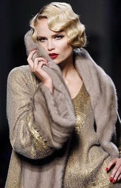 finger waves - vintage hair - glamour - great for 1920's chinese wedding or tea ceremony for that olden day shanghai look