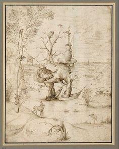 Hieronymus Bosch | Der Baummensch - The Tree-Man | um 1500 | © Albertina, Wien