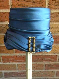 1940s Vintage Blue Ladies hat with Rhinestone by VintiqueVillage, $30.00