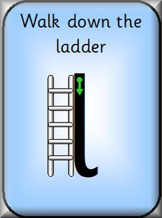 Ladder Letter Formation Cards: includes the lower case versions of i, j, l, t, u and y Jolly Phonics Activities, Alphabet Activities, Teaching Resources, Teaching Ideas, Letter Of The Week, Early Reading, Letter Formation, Letter Recognition, Activity Ideas