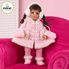 "KidKraft 18"" Sadie Doll, Caucasian with Brunette Hair"