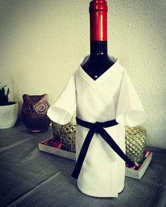 Karateanzug für Flasche ( Flaschenhülle )